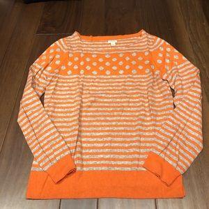 Jcrew orange and grey sweater size L - NWOT
